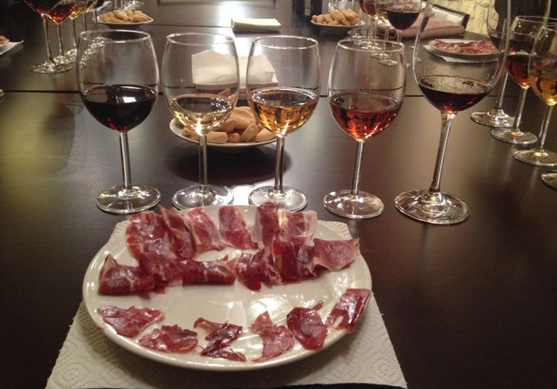 Bodega degustación vino y jamón